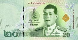 THAILAND 20 BAHT ND (2018) P-135 UNC  [TH193a] - Thaïlande