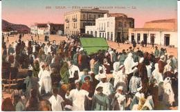 POSTAL   ORAN -ARGELIA  - FÊTE ARABE AU VILLAGE NÈGRE  (FIESTA ARABE EN LA ALDEA DE NEGRE) - Argelia