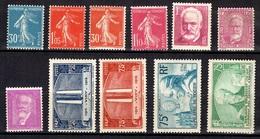 France Belle Petite Collection Neufs ** MNH 1920/1937. Bonnes Valeurs. TB. A Saisir! - France
