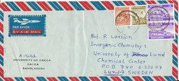Bangladesh Air Mail Cover Sent To Sweden 10-11-1979 - Bangladesh