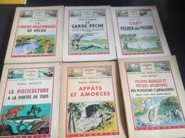 Lot 6 Livres Sur La Peche 1946-Collection La Terre + 100 Recettes D'amorces - Lots De Plusieurs Livres