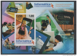 INFORMATION TECHNOLOGY, 2016, MNH, CELL PHONES, COMPUTERS, SATELLITES, S/SHEET - Computers