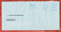 Postzustellungsauftrag, Hasler C015879, Stilisiertes Brandenburger Tor, 562 C, Berlin 2002 (53366) - Machine Stamps (ATM)