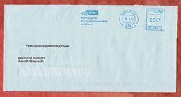 Postzustellungsauftrag, Hasler C015877, Stilisiertes Brandenburger Tor, 562 C, Berlin 2002 (53369) - Machine Stamps (ATM)