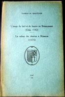 05 HAUTES ALPES GASTRONOMIE CUISINE  G DE MANTEYER  USAGE DU LARD ET DU BEURRE EN BRIANCONNAIS  QUEYRAS DURANCE 1937 - Livres, BD, Revues