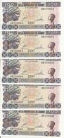 GUINEE 100 FRANCS 1998 UNC P 35 ( 5 Billets ) - Guinée