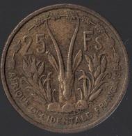 AFRIQUE OCCIDENTALE FRANCAISE - 25F DE 1956. - Coins