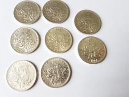 Lot De 8 Pièces De 5 Francs Argent Semeuse 1961 à 1966 - J. 5 Francs