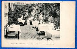 """77- BOIS LE ROI - Hotel De La """" Vallée De La Solle """" Vue Intérieure De La Terrasse  -ed Breger -  CPA 1900 - Bois Le Roi"""