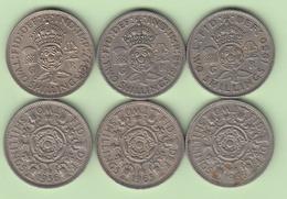 Grande Bretagne  Florin 1947 ; 1948 ; 1950 ; 1956 ; 1965 ; 1966 ;    Great Britain UK - 1816-1901 : Frappes XIX° S.