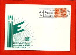 """SUISSE, Winterthur, Carte Souvenir """"semaine Européenne 1961"""" - Brieven En Documenten"""