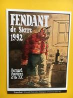 8457 - Tronchet Grand Prix Des Alpages Festival BD'92 Sierre Fendant Bernard Rouvinez Suisse - Stripverhalen