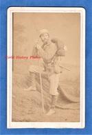 Photo Ancienne CDV Vers 1870 - TOULOUSE / PERPIGNAN - Portrait Alpiniste / Montagnard - Pyrénées - Alte (vor 1900)