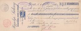 1906: Wissel Van/Traite De ## HIPPOLYTE LECLERCQ, Charbons, Cokes & Chaux, Alost (Aalst) ##  Aan/vers ## Mr. Hector D... - Lettres De Change