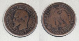 FRANCE Dix Centimes 1853 A 10c - France