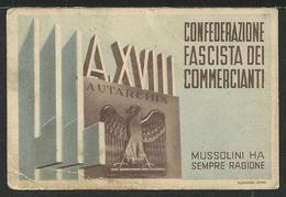 Tessera CONFEDERAZIONE FASCISTA DEI COMMERCIANTI - A. XVIII - Documents Historiques