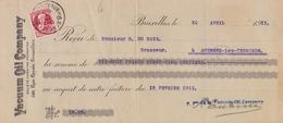 1911: Wissel Van/Traite De ## VACUUM OIL COMPANY, 146, Rue Royale, Br. ##  Aan/vers ## Mr. H. Dubois, à Audegem-lez-T... - Lettres De Change