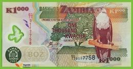 Voyo ZAMBIA 1000 Kwacha 2004 P44c B146c EC/03 UNC Fish Eagle Polimer - Zambia