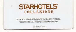 Chiave Magnetica- Hotel Key- Card Magnetic-ITALIA-STARHOTELS-COLLEZIONE - Chiavi Elettroniche Di Alberghi