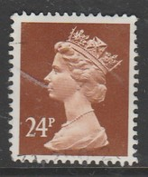 GB Scotland 1989 Elizabeth II Decimal Currency Definitives 24 P O Used ( Phosphorised Paper ) - Regional Issues