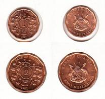 Ouganda  Uganda  1 Shilling  1987 + 2 Shilling 1987 - Ouganda
