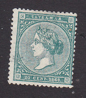 Cuba, Scott #33, Used, Queen Isabella II, Issued 1868 - Cuba (1874-1898)