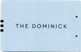 Chiave Magnetica- Hotel Key- Card Magnetic-STATI UNITI-NEW YORK-HOTEL-THE DOMINICK - Chiavi Elettroniche Di Alberghi