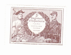 Vignette Militaire Delandre - 5ème Régiment D'infanterie - Militario
