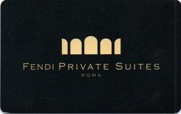 Chiave Magnetica- Hotel Key- Card Magnetic-ITALIA -ROMA-FENDI PRIVATE SUITES - Chiavi Elettroniche Di Alberghi