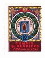 Vignette Militaire Delandre - 16ème Section De Commis Et Ouvriers D'administration - Vignettes Militaires