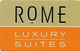 Chiave Magnetica- Hotel Key- Card Magnetic-ITALIA -ROMA-LUXURY SUITES - Chiavi Elettroniche Di Alberghi