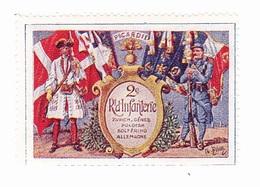 Vignette Militaire Delandre - 2ème Régiment D'infanterie - Militario