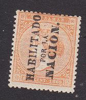 Cuba, Scott #44, Mint Hinged, Queen Isabella II Overprinted, Issued 1869 - Cuba (1874-1898)
