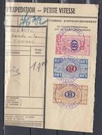 Fragment Met Moustachestempel Uccle Ukkel Calevoet - Railway
