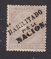 Cuba, Scott #45, Mint Hinged, Queen Isabella II Overprinted, Issued 1869 - Cuba (1874-1898)