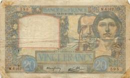 BILLET   VINGT FRANCS  SCIENCE ET TRAVAIL  1941 - 1871-1952 Circulated During XXth