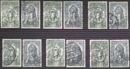 NEDERLAND NVPH 323/324 (9x) Gestempeld - 1891-1948 (Wilhelmine)