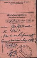 Guerre 39 45 Envoi D'argent Camp Concentration Lager 32 Einlieferungsschein Sorgfältig Aufbewahren CAD Briesen 03 9 41 - Briefe U. Dokumente