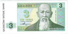Kazakistán - Kazakhstan 3 Tenge 1993 Pick 8a UNC - Kazakhstán