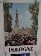 "AFFICHE :POLOGNE, CZESTOCHOWA , Cloître  ""JASNA GORA""  H 69,5 L 46,2 - Posters"