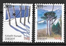Groënland 2011, N° 558/559 Oblitérés Europa Forêts - Greenland