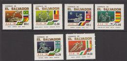 1994 El Salvador LA World Cup Football Flags Complete Set Of 6 MNH - El Salvador