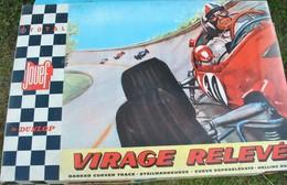 Rare Magnifique  Circuit Jouef Virage Relevé Dunlop -Total Complet - Road Racing Sets