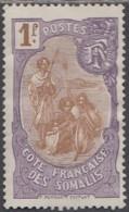 Côte Française Des Somalis 1909-1940 - N° 80 (YT) N° 80 (AM) Neuf *. Gomme Altérée. - Nuovi