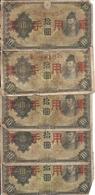 JAPON 10 YEN MILITARY VG ( 5 Billets ) - Japon