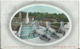 Bruxelles - Brussel - Exposition De Bruxelles 1910 - Vue De La Grande Terasse - Editeurs Valentine & Sons - 1910 - Feesten En Evenementen