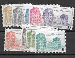 1971 MNH Belgium, Michel 67-75 Paket Marken,  Postfris** - Neufs