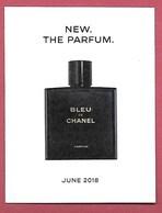 F-New !! Carte à Sprayer CHANEL - Bleu De Chanel -  Perfume Card - USA - Modern (from 1961)