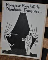 Très Rare Dessin Original Signé Carral à L'encre De Chine Dessin De Presse 1962 Général De Gaulle - Original Drawings