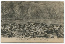 Tibet Thibet Une Ville Thibétaine Bathang - Tibet
